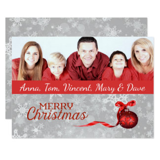 Family Photo Christmas Card