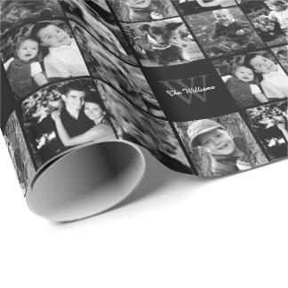 Family Photo Collage Wrapping Paper