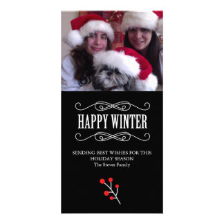 Family photo Holiday card Picture Card
