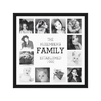 Family Photo Memories with Personalization Canvas Print