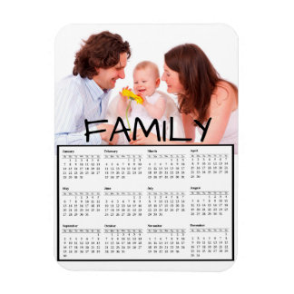 Family Photo Perosnalized 2018 Calendar Magnet