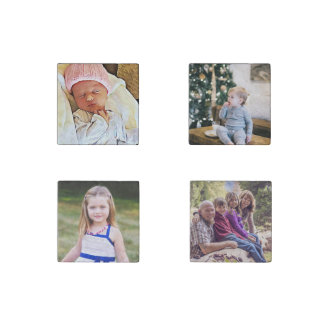 Family Photo Personalized Magnet Set