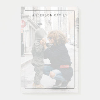 Family Photo Post-it Notes
