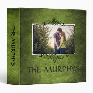Family Photo Scrapbook Album•Irish Green 3 Ring Binder