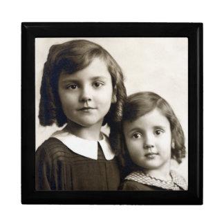 Family Photo, Swigert Sisters, Black Enamel Box