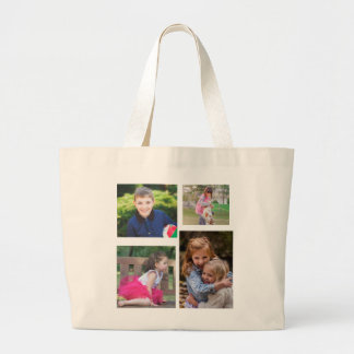 Family Photograph Large Tote Bag