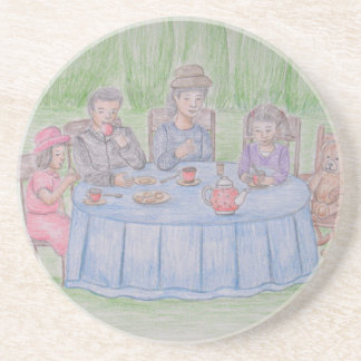 Family Picnic Drink Coaster