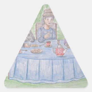 Family Picnicn Triangle Sticker