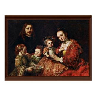 Family Portrait By Rembrandt Harmenszoon Van Postcard