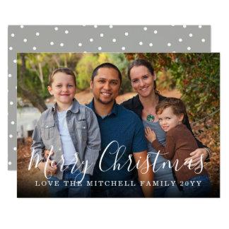 Family Portrait Custom Greeting Holiday Photo Card