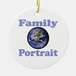 Family Portrait (Earth) Round Ceramic Ornament