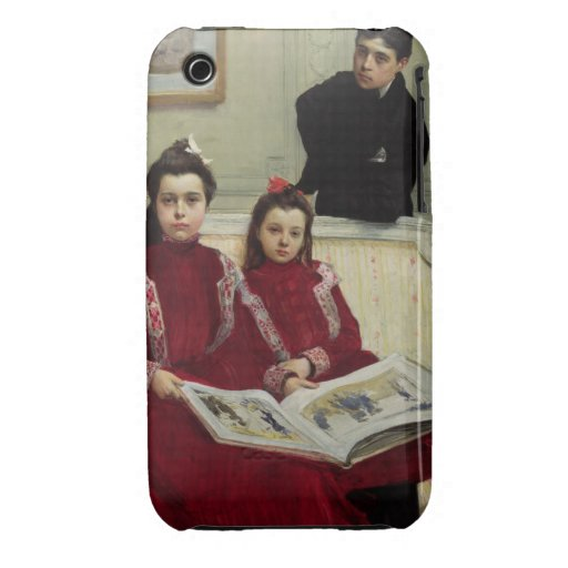 Family Portrait of a Boy and his Two Sisters, 1900 iPhone 3 Case