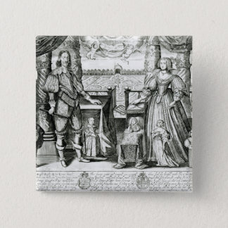 Family Portrait of Charles I 2 Inch Square Button