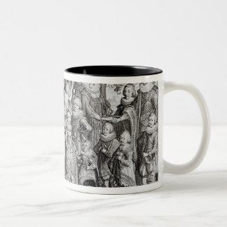 Family Portrait of James I of England Two-Tone Coffee Mug