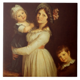Family portrait of Madame Anthony and her children Tile