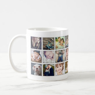 Family Portrait Photo Collage Mug for Grandparents