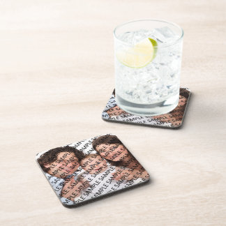 Family Portrait Photograph Gift Template Coaster