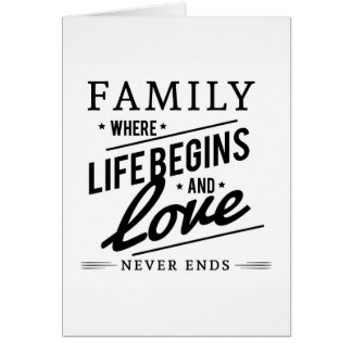 Family Quote. Card