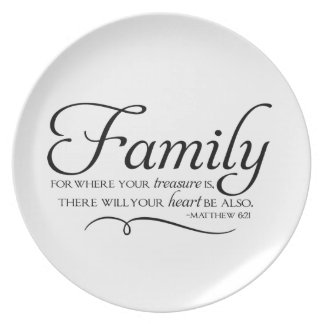 Family Quote - For Where Your Treasure Is... Plates