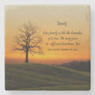 FAMILY QUOTE STONE COASTER