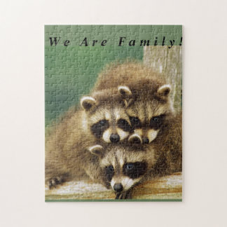 Family Racoon Puzzle