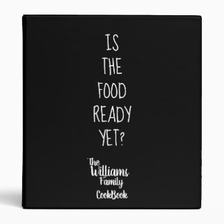 family recipes funny cookbook black binder