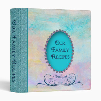 Family Recipes - Pastels/Jewels (faux) Binders