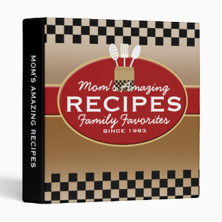 Family Recipes Personalized Binders