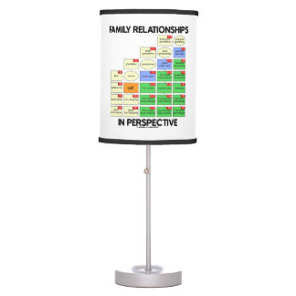 Family Relationships In Perspective Genealogy Table Lamp