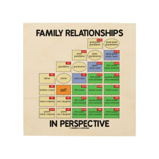 Family Relationships In Perspective Genealogy Wood Print