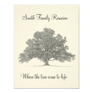 "Family Reunion 4.25"" X 5.5"" Invitation Card"