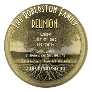 """Family Reunion 5.25"""" Square Invitation Card"""