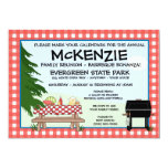 Family Reunion Barbeque 5x7 Paper Invitation Card