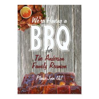 "Family Reunion BBQ Party 5"" X 7"" Invitation Card"