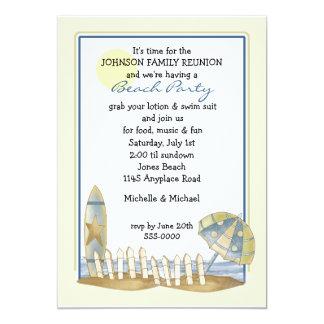 "Family Reunion Beach Party 5"" X 7"" Invitation Card"
