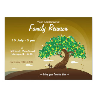 "Family Reunion (Brown) 5"" X 7"" Invitation Card"