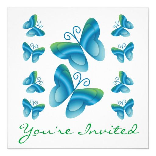 Family Reunion Butterflies Invitations