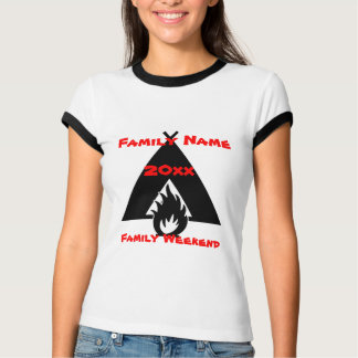 Family Reunion Campfire and Tent Symbol T-Shirt