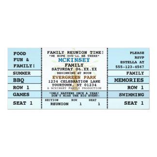 "Family Reunion Concert Ticket Invitation 4"" X 9.25"" Invitation Card"