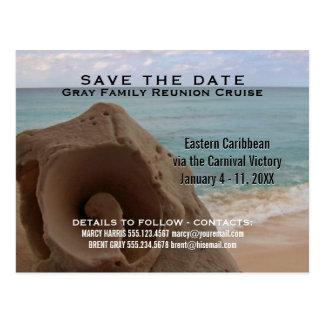 Family Reunion Cruise | Save the Date Beach Postcard