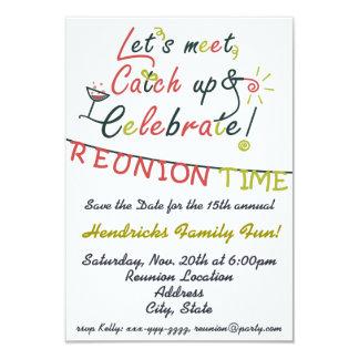 "Family Reunion design 3.5"" X 5"" Invitation Card"