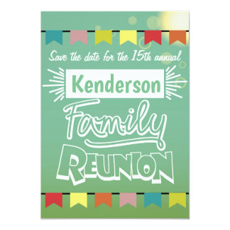Family reunion design card