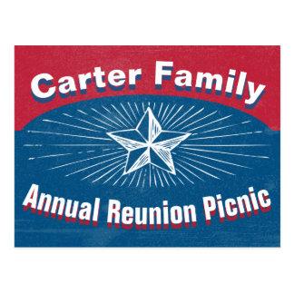 Family Reunion Event Postcard