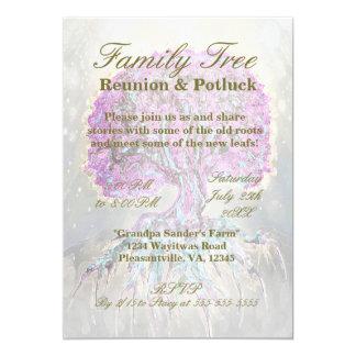 """Family Reunion - Family Tree 5"""" X 7"""" Invitation Card"""