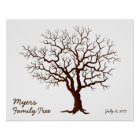 Family Reunion Finger Print Tree (Matte)