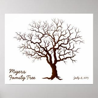 Family Reunion Finger Print Tree (Matte)