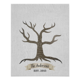 Family Reunion Fingerprint Tree Guestbook