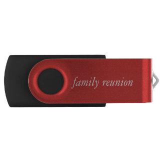 Family reunion Flash Drive Swivel USB 2.0 Flash Drive