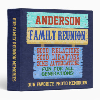 Family Reunion Funny Wooden Sign | Photo Memories Binders