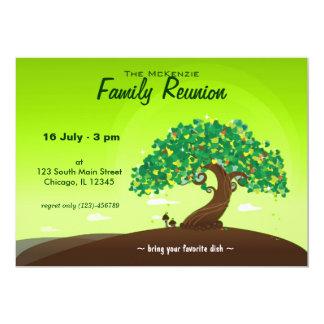 "Family Reunion (Green) 5"" X 7"" Invitation Card"